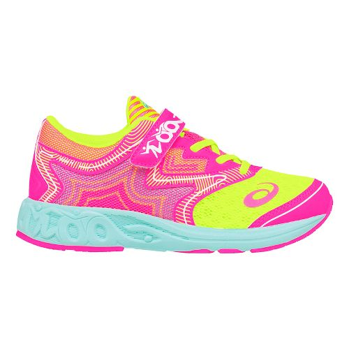 ASICS Noosa FF Running Shoe - Pink/Safety Yellow 1.5Y