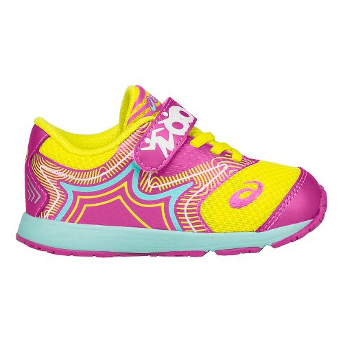 ASICS Kids Noosa FF Running Shoe - Pink/Safety Yellow 7C