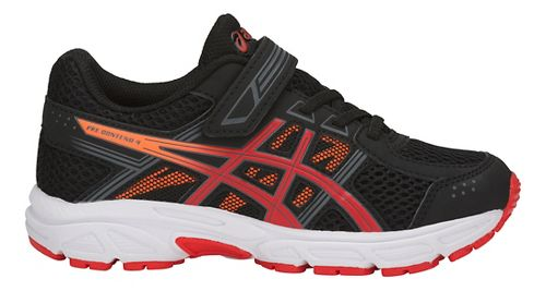 Kids ASICS PRE-Contend 4 Running Shoe - Black/Red/Orange 1.5Y