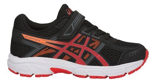 Kids ASICS PRE-Contend 4 Running Shoe - Black/Red/Orange 2.5Y