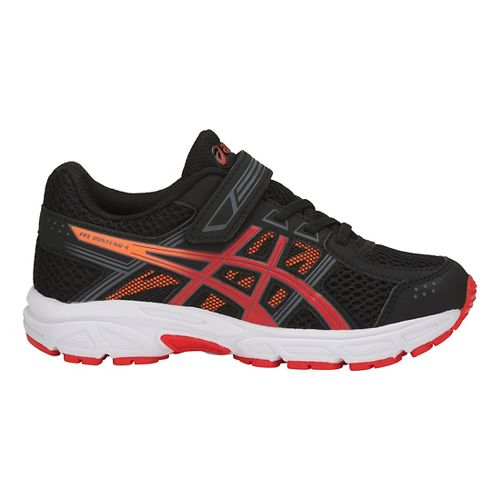 Kids ASICS PRE-Contend 4 Running Shoe - Black/Red/Orange 2.5Y