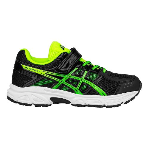 ASICS Kids PRE-Contend 4 Running Shoe - Black/Green/Yellow 2.5Y