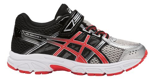 Kids ASICS PRE-Contend 4 Running Shoe - Silver/Red/Black 1Y