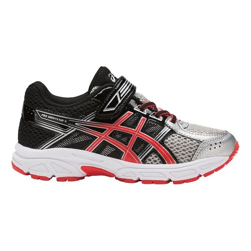 ASICS PRE-Contend 4 Running Shoe - Silver/Red/Black 2Y