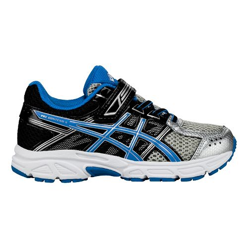 ASICS PRE-Contend 4 Running Shoe - Silver/Blue/Black 1.5Y