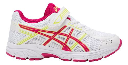 Kids ASICS PRE-Contend 4 Running Shoe - White/Pink 3Y