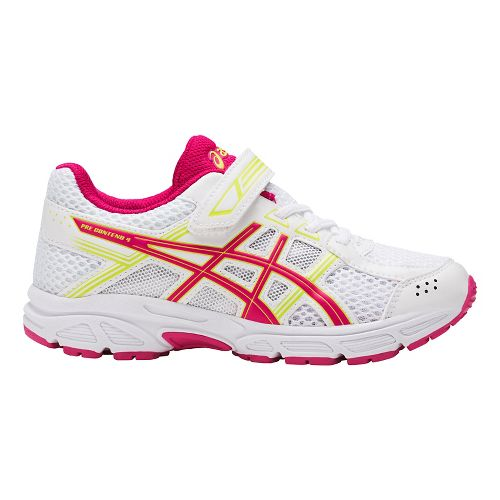 ASICS PRE-Contend 4 Running Shoe - White/Pink 2Y
