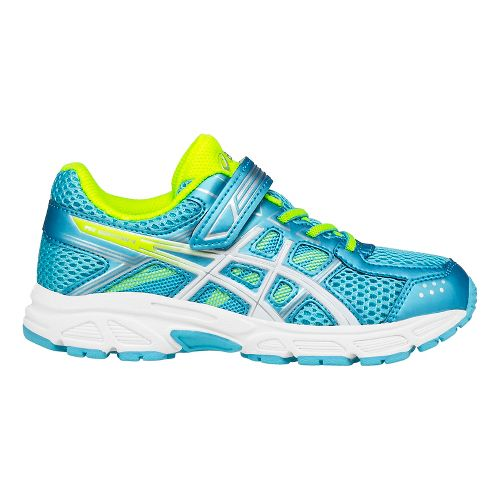 ASICS Kids PRE-Contend 4 Running Shoe - Aquarium/Yellow 2.5Y