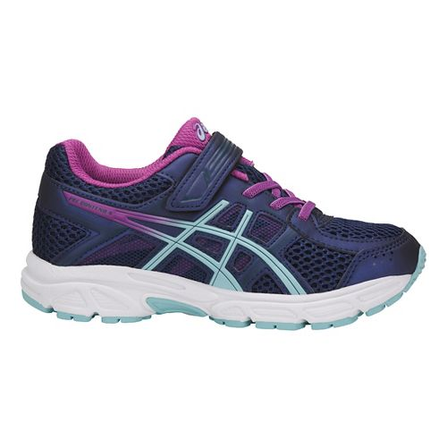 Kids ASICS PRE-Contend 4 Running Shoe - Blue/Orchid 2.5Y