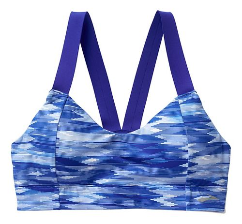 Womens Brooks Moving Comfort Collection Hot Shot Sports Bras - Cobalt Ikat XS