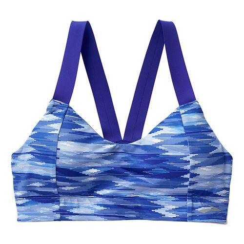 Womens Brooks Moving Comfort Collection Hot Shot Sports Bras - Cobalt Ikat L