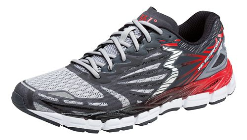 Mens 361 Degrees Sensation 2 Running Shoe - Sleet/Risk Red 9.5