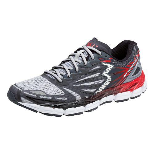 Mens 361 Degrees Sensation 2 Running Shoe - Sleet/Risk Red 12.5
