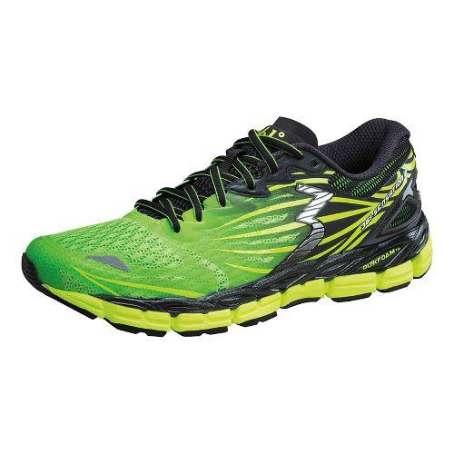 Mens 361 Degrees Sensation 2 Running Shoe - Lime/Black 12.5