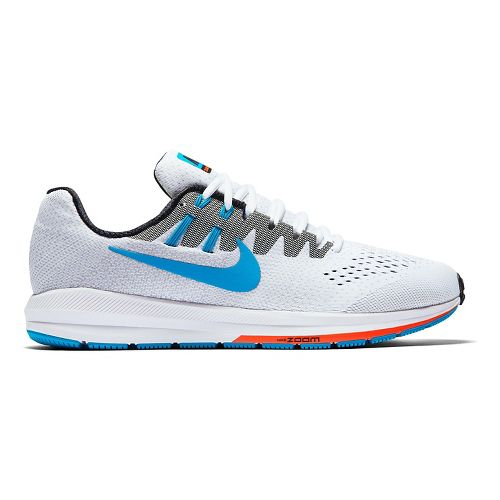 Mens Nike Air Zoom Structure 20 Anniversary Running Shoe - White 12