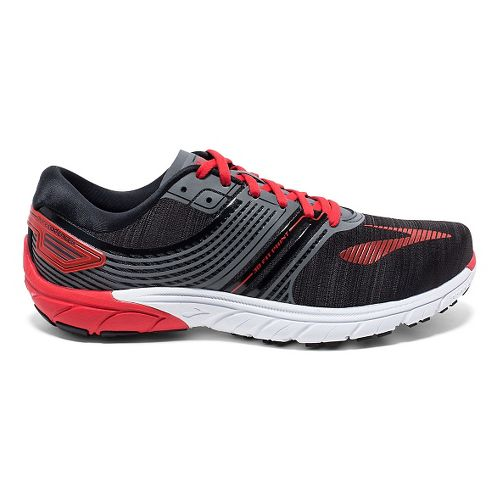 Mens Brooks  PureCadence 6 Running Shoe - Black/Anthracite 7.5