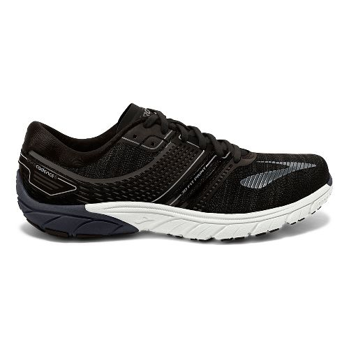 Mens Brooks  PureCadence 6 Running Shoe - Black/Silver 10.5