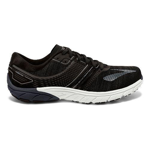 Mens Brooks  PureCadence 6 Running Shoe - Black/Silver 9.5