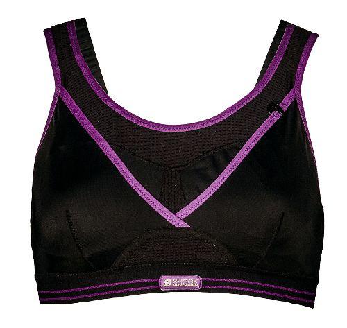 Womens Shock Absorber Ultimate Gym Sports Bras - Black/Purple 32D