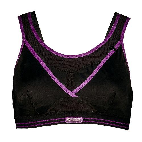 Womens Shock Absorber Ultimate Gym Sports Bras - Black/Purple 36G