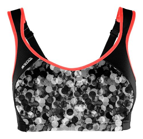 Womens Shock Absorber Active Multi Support Sports Bras - Grey Print/Coral 36E