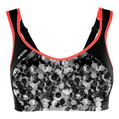 Womens Shock Absorber Active Multi Support Sports Bras - Grey Print/Coral 38E