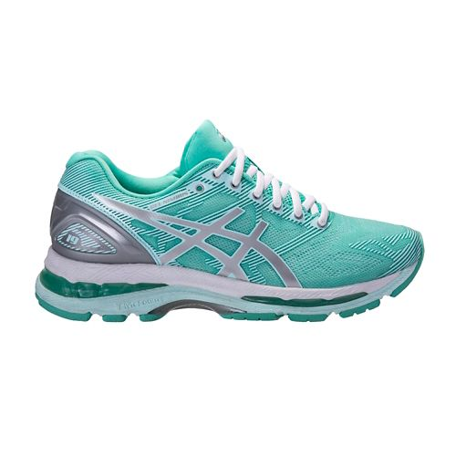 Womens ASICS GEL-Nimbus 19 Exclusive Running Shoe - Mint/Silver 10.5