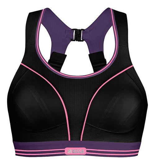 Womens Shock Absorber Ultimate Run Sports Bras - Black/Purple 32C