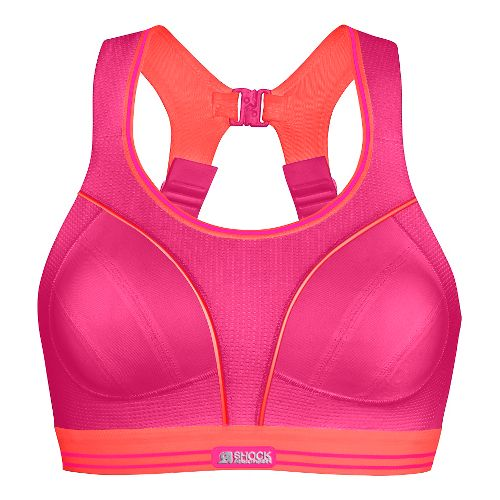 Womens Shock Absorber Ultimate Run Sports Bras - Pink/Coral 36FF