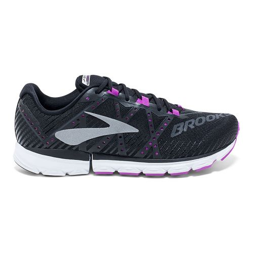 Womens Brooks Neuro 2 Running Shoe - Black/Purple 5.5
