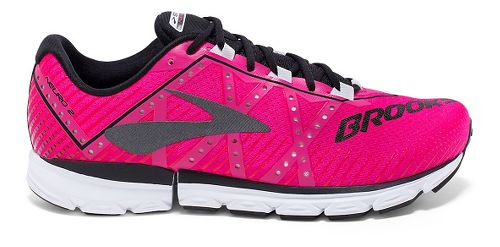 Womens Brooks Neuro 2 Running Shoe - Pink Glo/Black/White 6.5