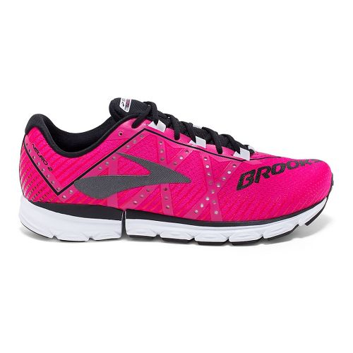 Womens Brooks Neuro 2 Running Shoe - Pink Glo/Black/White 5
