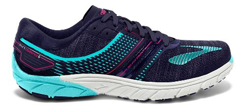 Womens Brooks  PureCadence 6 Running Shoe - Blue/Pink 7
