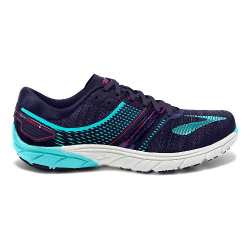 Womens Brooks  PureCadence 6 Running Shoe - Blue/Pink 7