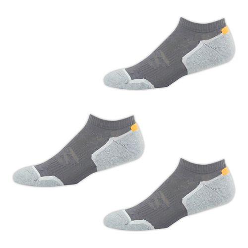 New Balance Court Low Cut 3 Pack Socks - Light Grey/Impulse L