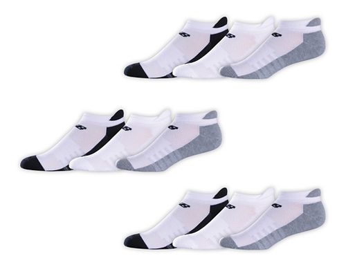 Womens New Balance Lifestyle Tab 9 Pack Socks - Black/White/Grey L