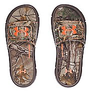 Under Armour Ignite Camo V SL Sandals Shoe - Cleveland Brown 6Y