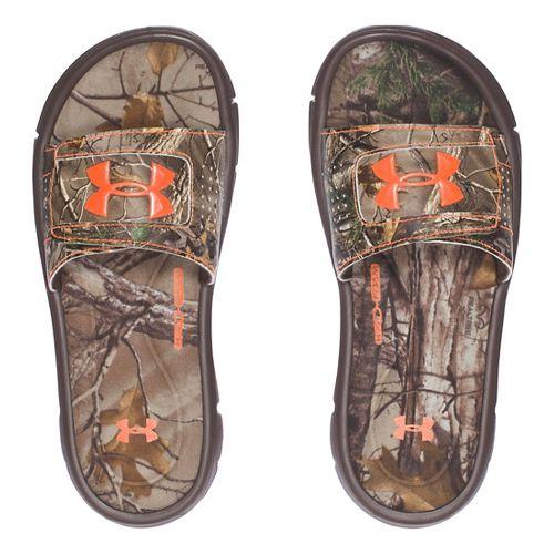 Under Armour Ignite Camo V SL Sandals Shoe - Cleveland Brown 7Y