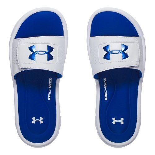 Under Armour Ignite V SL Sandals Shoe - White/Blue 12C