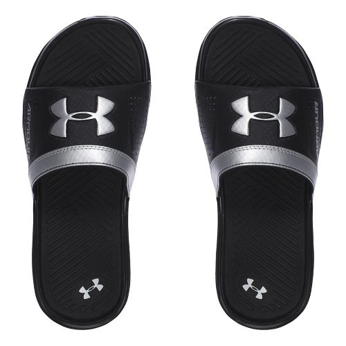 Under Armour Playmaker VI SL Sandals Shoe - Black/Silver 5Y