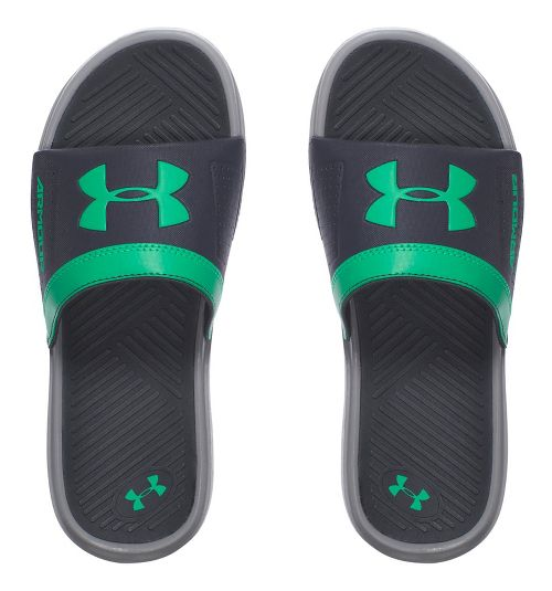 Under Armour Playmaker VI SL Sandals Shoe - Rhino Grey/Green 5Y