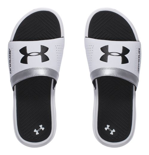 Under Armour Playmaker VI SL Sandals Shoe - White/Black 3Y