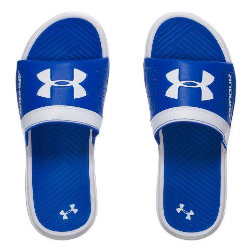 Under Armour Playmaker VI SL Sandals Shoe - White/Blue 5Y