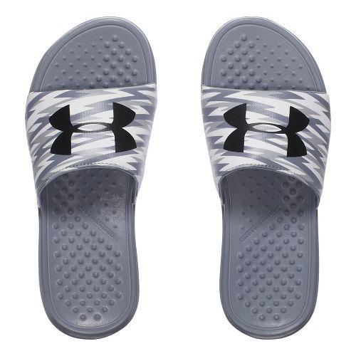 Under Armour Strike Flash SL Sandals Shoe - Black/Steel 1Y