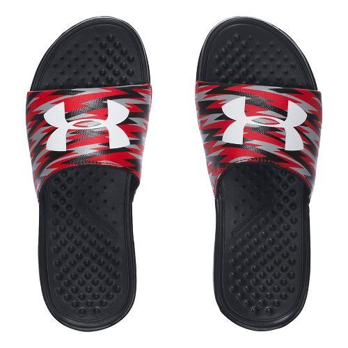 Under Armour Strike Flash SL Sandals Shoe - Black/Red 3Y
