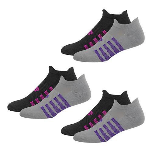 New Balance NBx Tabulator Tab 6 Pack Socks - Light Grey/Black M