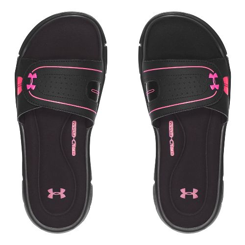 Womens Under Armour Ignite Vlll SL Sandals Shoe - Black/Pink 10