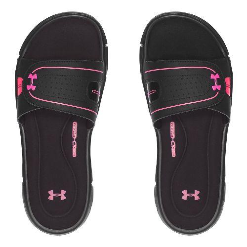 Womens Under Armour Ignite Vlll SL Sandals Shoe - Black/Pink 6