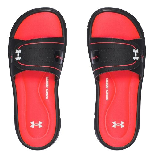 Womens Under Armour Ignite Vlll SL Sandals Shoe - Black/Red 9