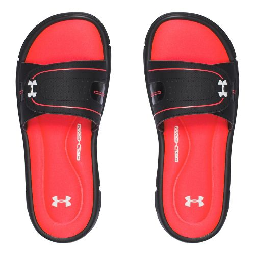 Womens Under Armour Ignite Vlll SL Sandals Shoe - Black/Red 11